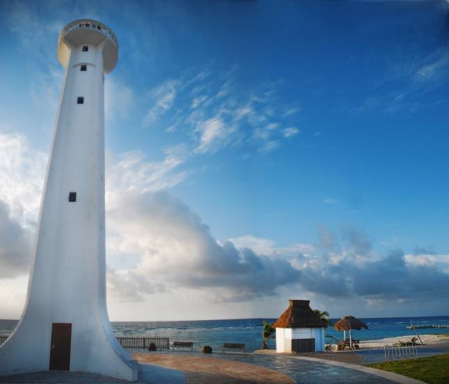 Mahahual famous lighthouse.