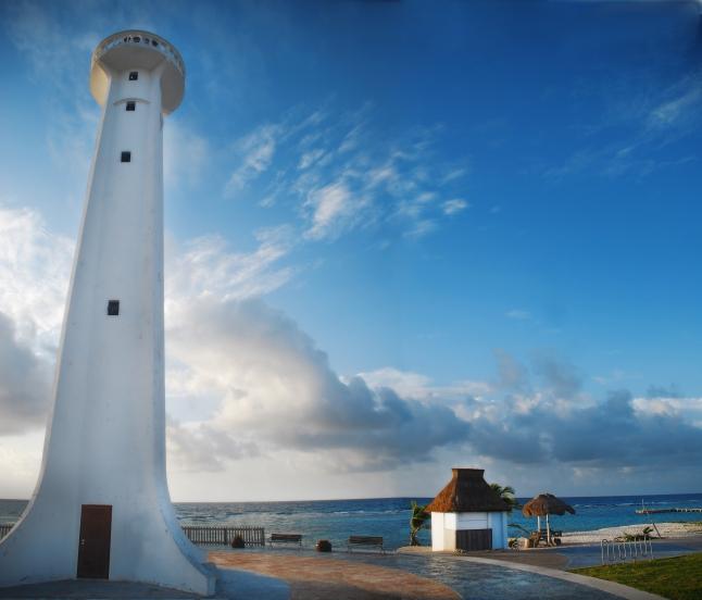 Mahahual famous lighthouse.