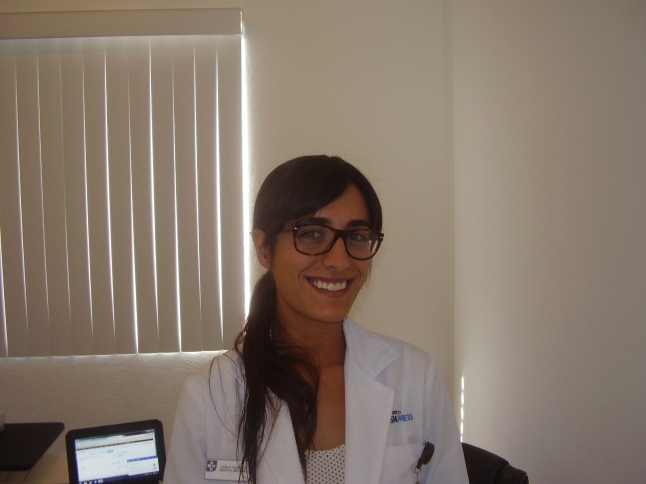 My doctor at CostaMed in Mahahual. Dr. Karla Velasco, speaks English well, and not bad on the eyes either.