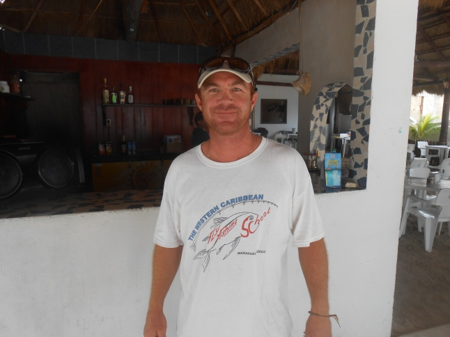 Nick Denbow fly fishing expert of Costa Maya.