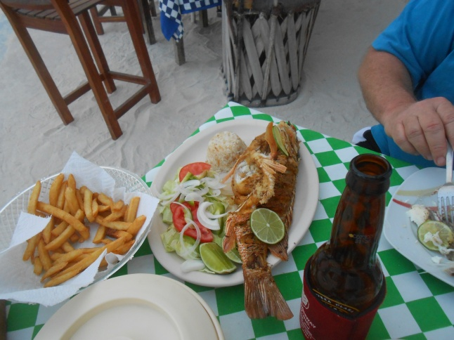 Fresh fish meal on malecon.