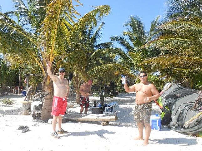 Gang on the beach