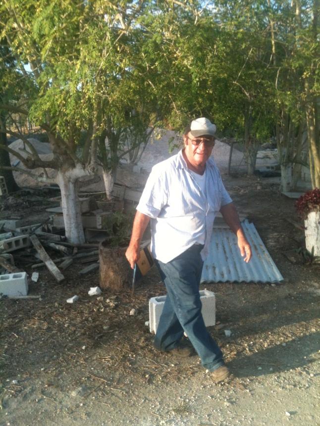 Carlos I. Morelos local Moringa farmer, showing us his tree farm.