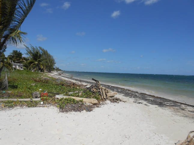 Beautiful natural beaches in Mahahual.