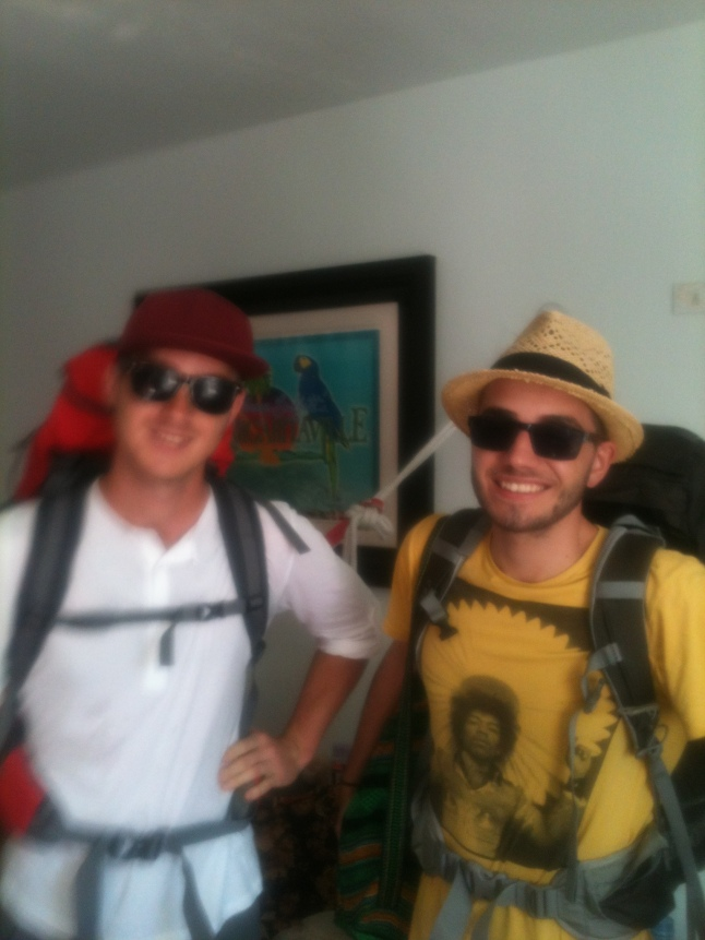 Florian and Phillip, from Austria, leaving here on way to Tulum, then Mahahual.