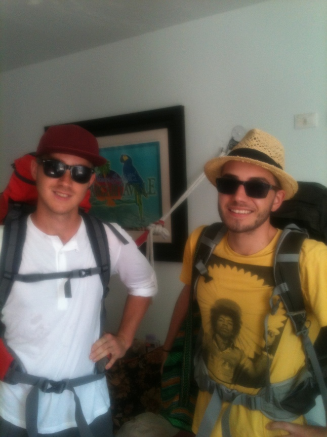 Phillip and Flo, 2 guys from Austria leaving for Tulum after staying here for week.