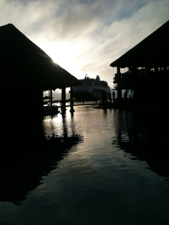 Dawn on Costa Maya.