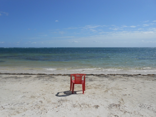 My quiet reading spot on the beach.