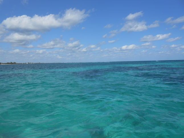 Caribbean waters 1 mile from Mahahual downtown.