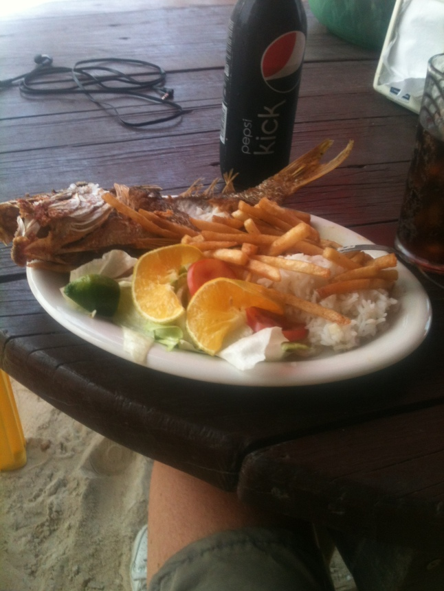 Always good food on the malecon. 50 pesos.