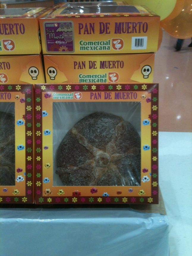 Display of dead bread at Mega Store.