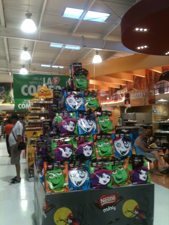 And of course Halloween candy is getting popular here.