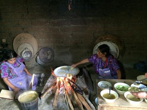 Tortillas are made by hand over an open fire. (Photo: Paula Froelich)