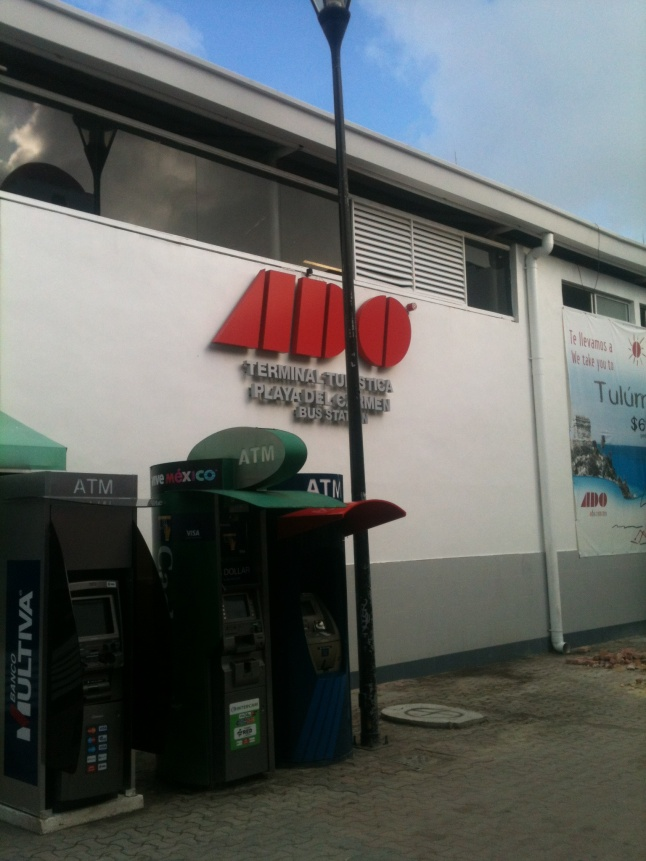 ADO bus station on 5th Ave. in Playa del Carmen.