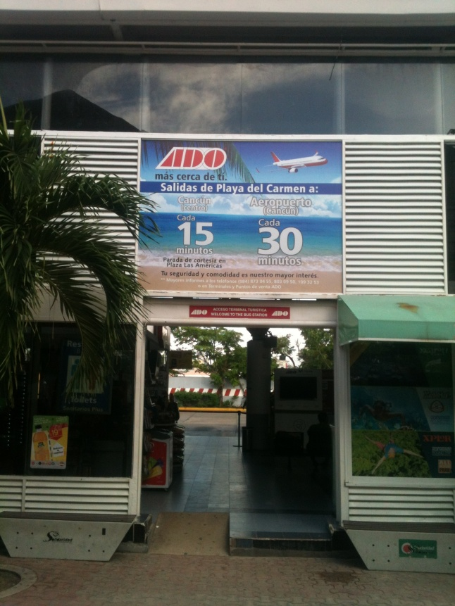 Entrance to ADO station in Playa.
