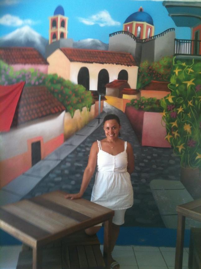 Sandra Floresin her cafe.