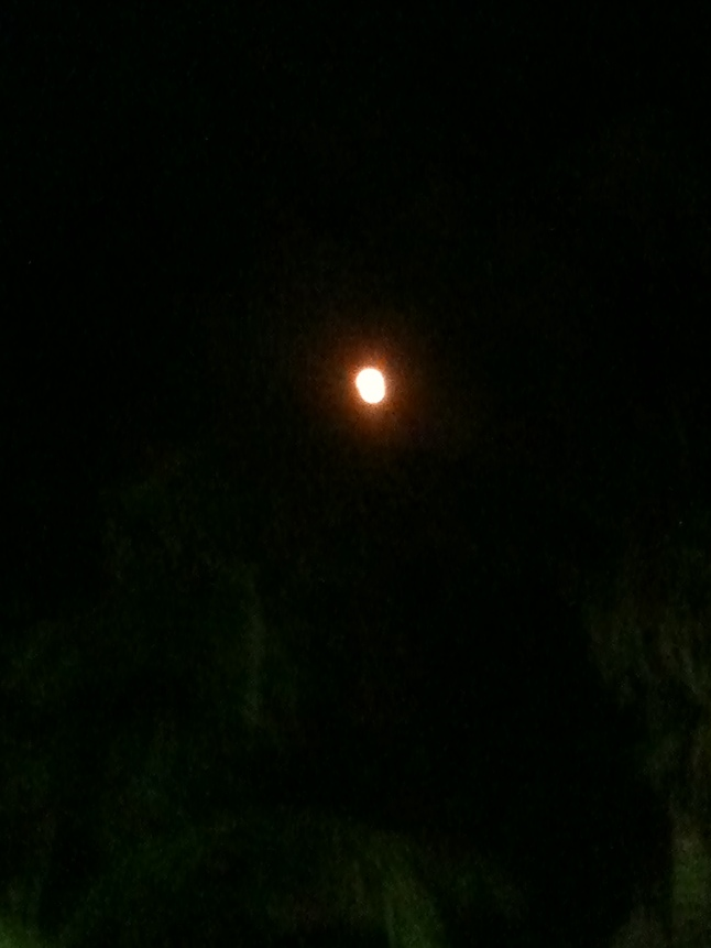 The next night, a red moon.
