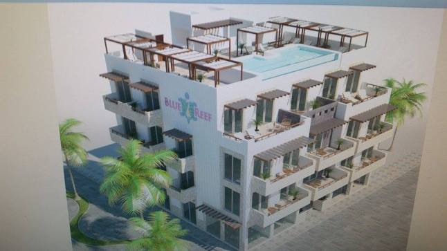 Blue Reef condos in Mahahual.
