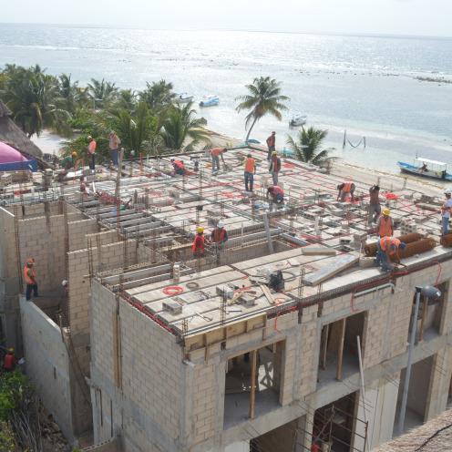 Blue Reef under construction.