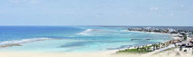 View of Mahahual from Caban Condos.