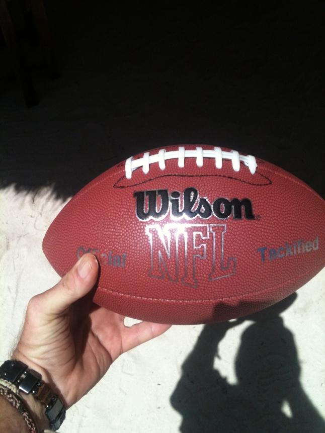 My newe football, fresh from the USA.