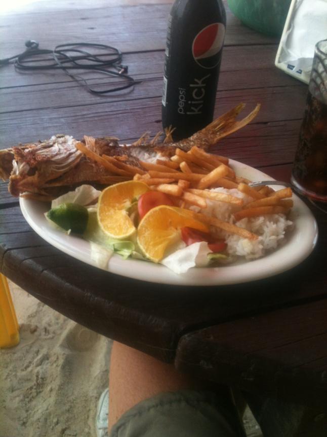 Always good food on the malecon. 50 pesos.