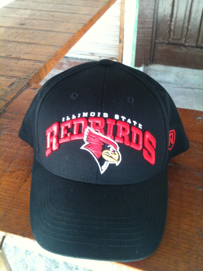 Melissa and Francisco Carranza brought me down this cool Illinois State hat.