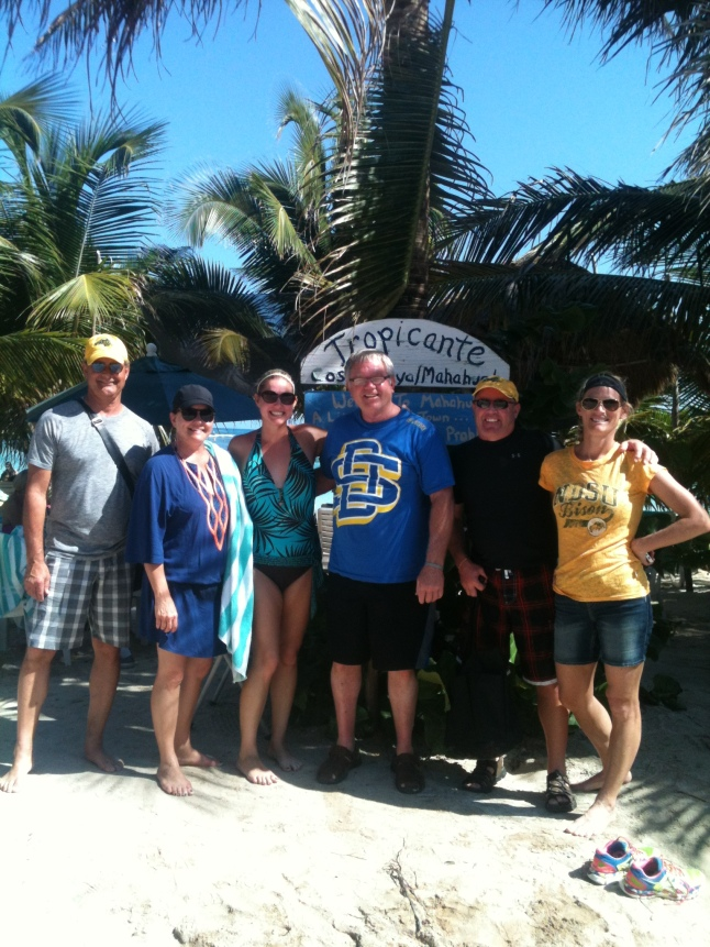 Some North Dakota State and South Dakota State fans here on a cruise.