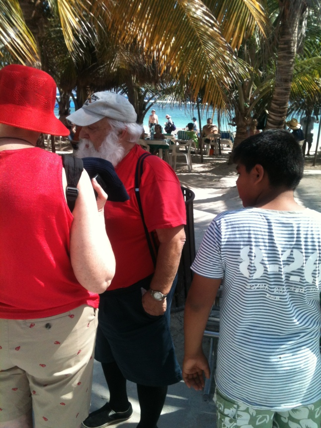 Santa Claus here on vacation.