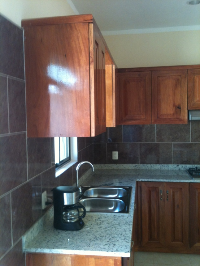 Spacious kitchen, with granite counter tops.