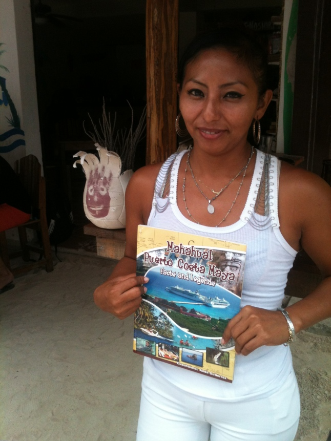 "I have some books ""Facts and Legends, Mahahual and Costa Maya"".  If you want one, come by the Tropicante and I will give you one while supplies last, you can also get a great massage from Elaina."