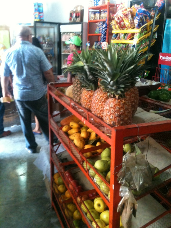Fresh pineapple and fruit.