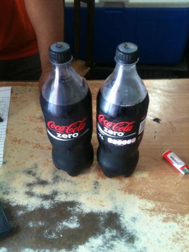 My Coke Zero, usually I get 2 liter, but today this was all they had.