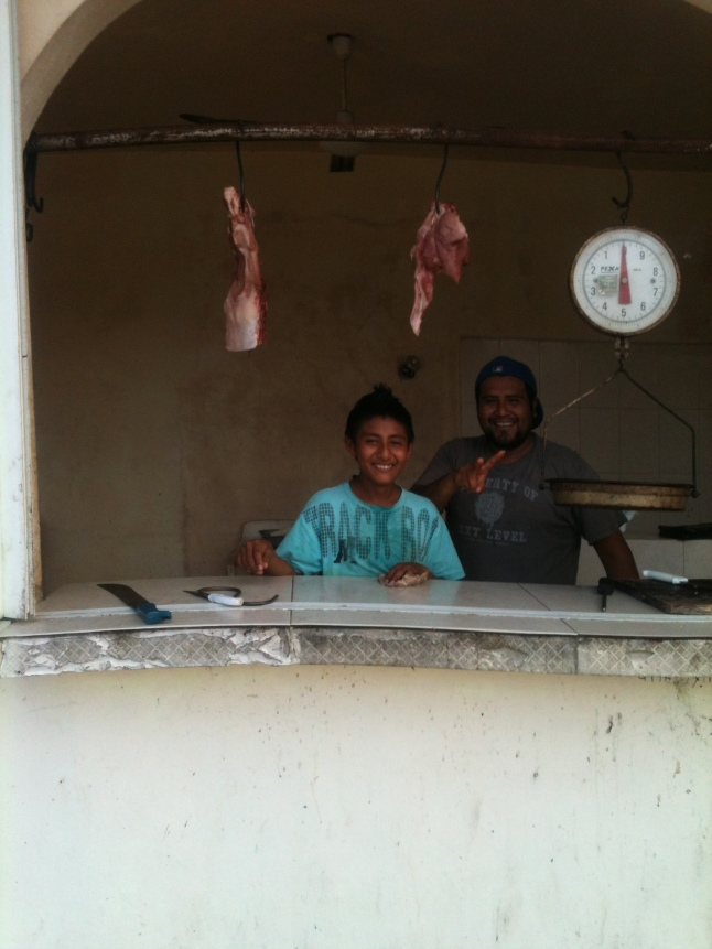 This is my butcher shop right around the corner from the Costa Maya office.  I get pork chops and other meats here.