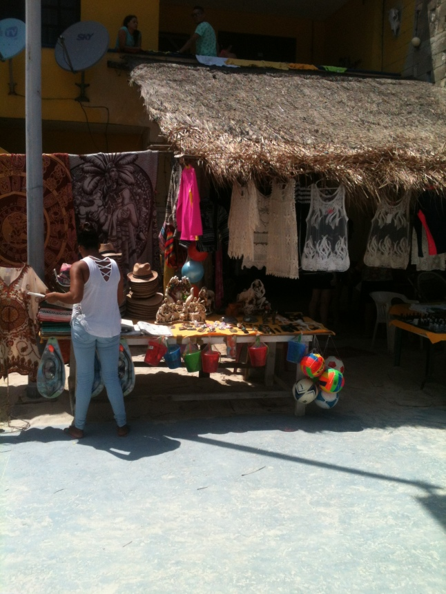 Malecon shops full of merchandise for the weekend.
