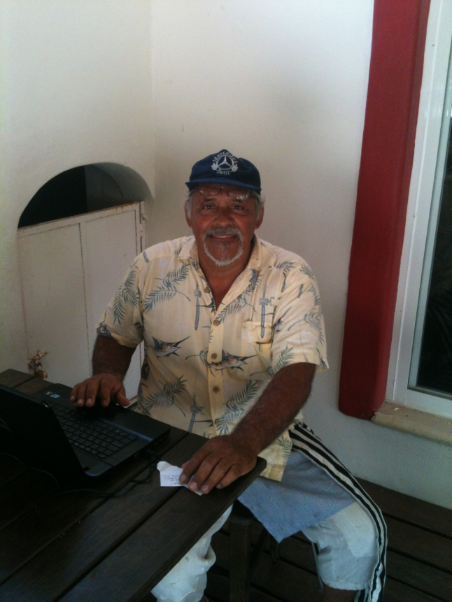 Sergio Benjamin Carbajal Rejon, one of the first residents of Mahahual. He is also an expert on the local history of Mahahual.