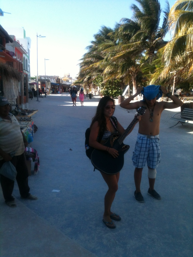 What was funny, one of the guitar players who sings on the malecon walked by, and the Jennifer Hahn the LPGA golfer stopped him and grabbed his guiar and started playing Bon Jovi, she was pretty good and attracted a crowd.