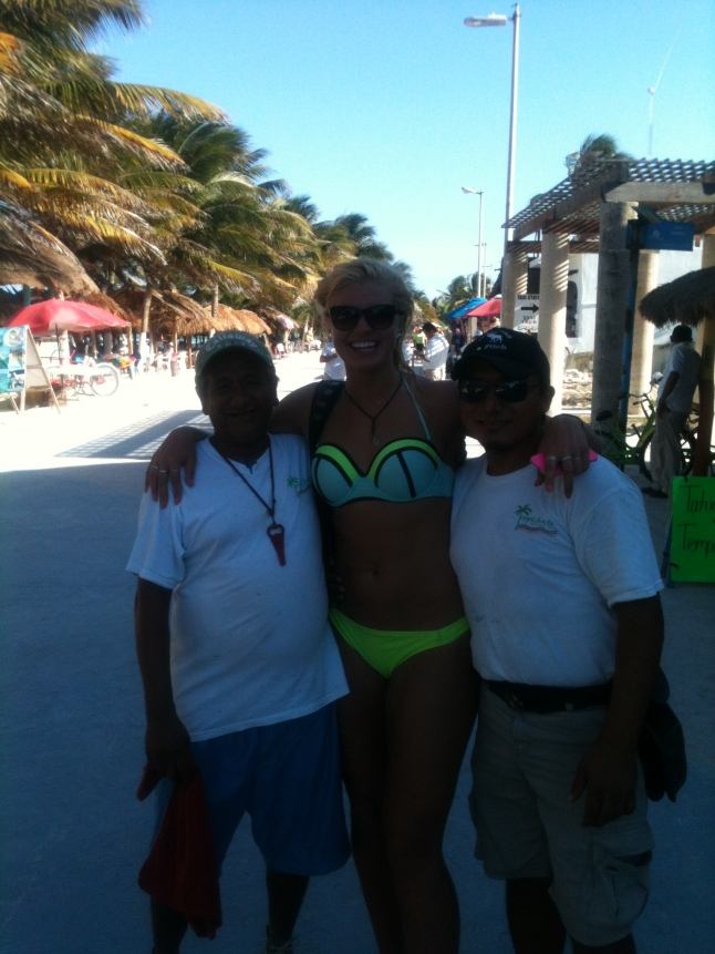 Heather basketball player, with Blondie and Mike, waiters at the Tropicante.