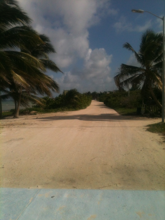 South beach road to Xcalak.