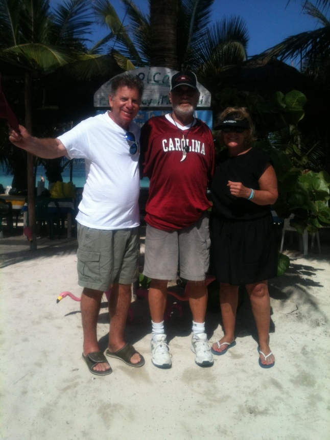 Fred and Marci Medway from Columbia, South Carolina with me on the beach.