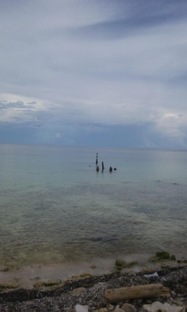 Flat, calm seas here today in Mahahual.