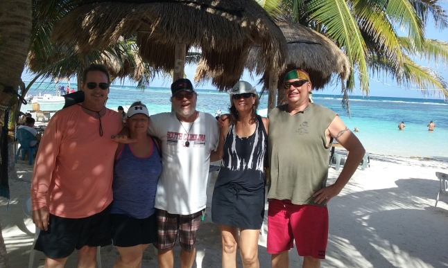 Eric and Jenny Dahlen on the left from Longview Texas, and Bill and Renata DeHaven from Falling Waters, West Virginia on the right with me in this photo on the beach.
