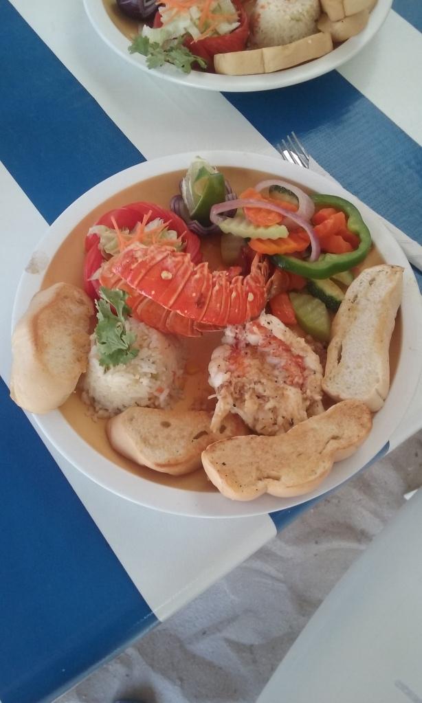 Pedro's lobster dish at Tropicante.