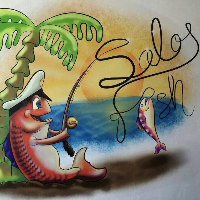 Solofish in New Mahahual.  Located right next to store on corner.