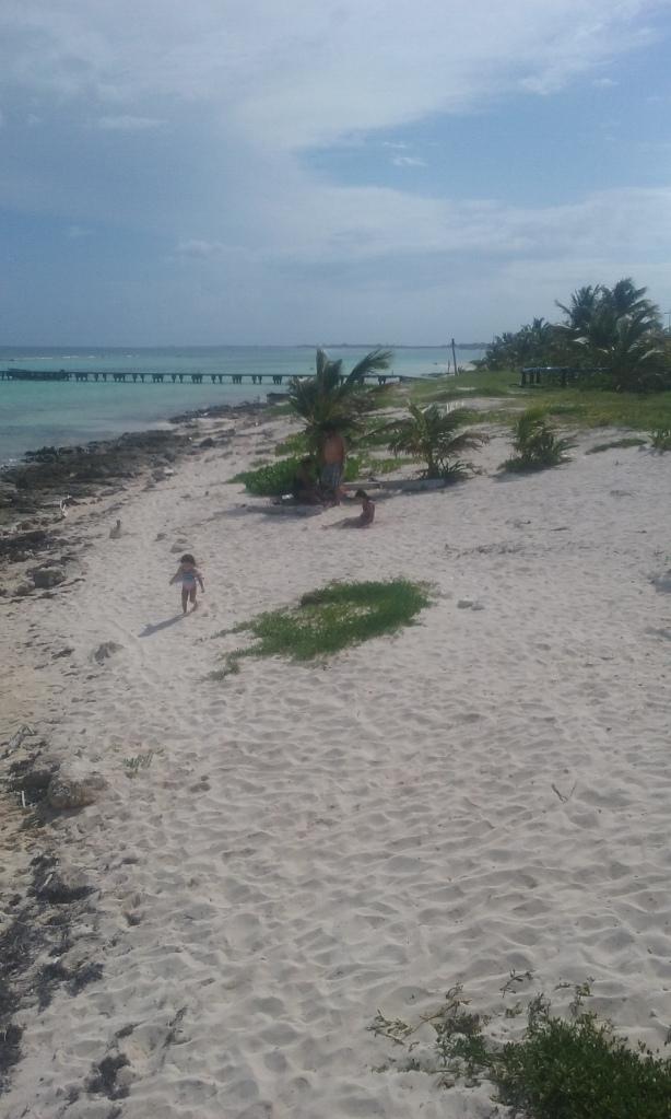 Locals enjoying Sunday on the beach.