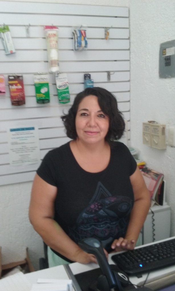 Vero Bermúdez, owner and operator of Pharma Cares in New Mahahual.