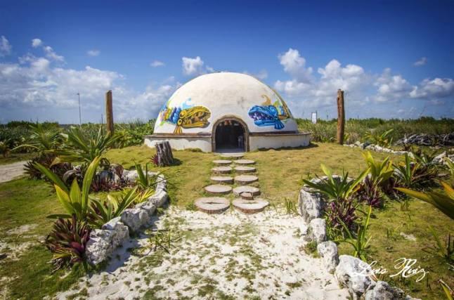 Blue Kay has a Temazcal, Mayan steam bath.