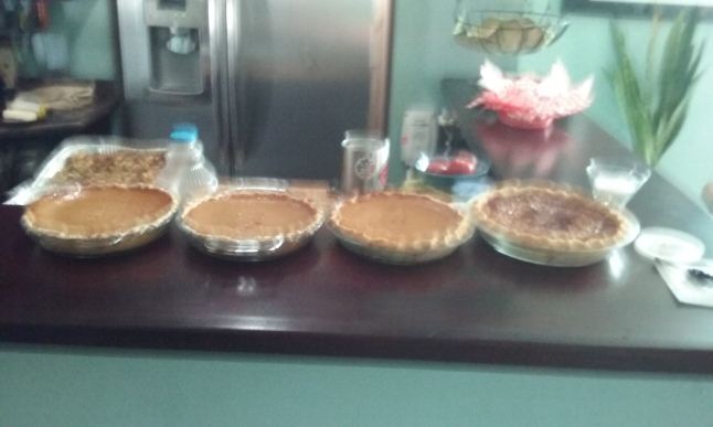 Of course, it is not Thanksgiving without pumpkin and pecan pie.