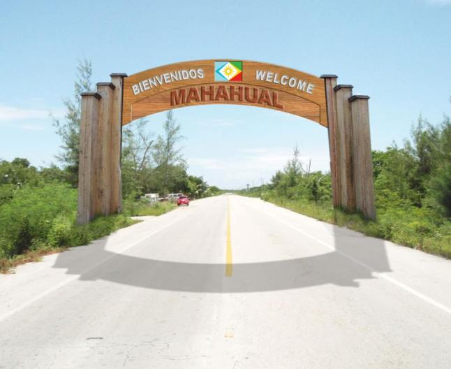 Entrance to the new Republic of Mahahual.