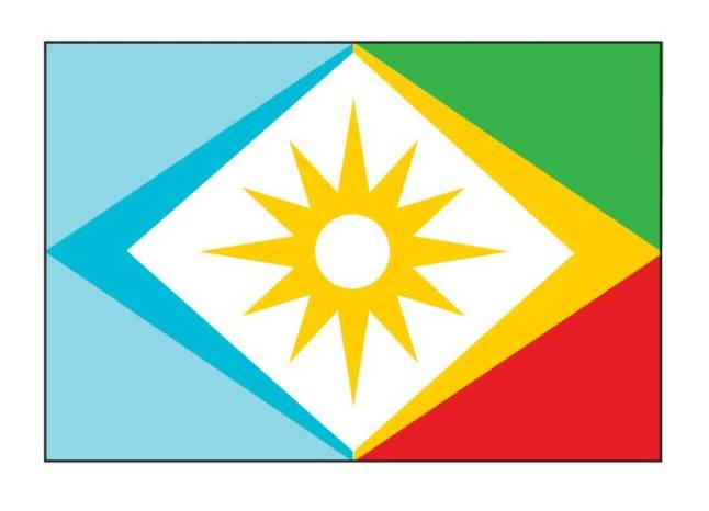 Official flag of the Republic of Mahahual